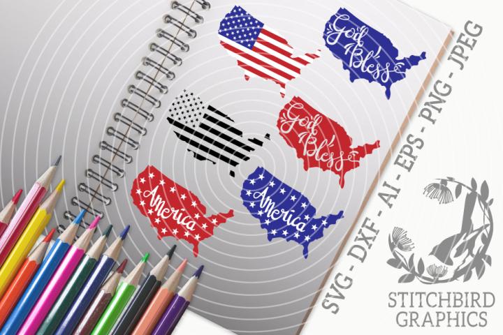 America Bundle SVG, Silhouette Studio, Cricut, Dxf, Ai, Jpeg