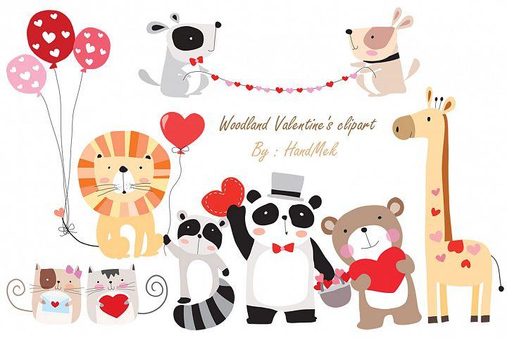 Woodland Valentines clipart