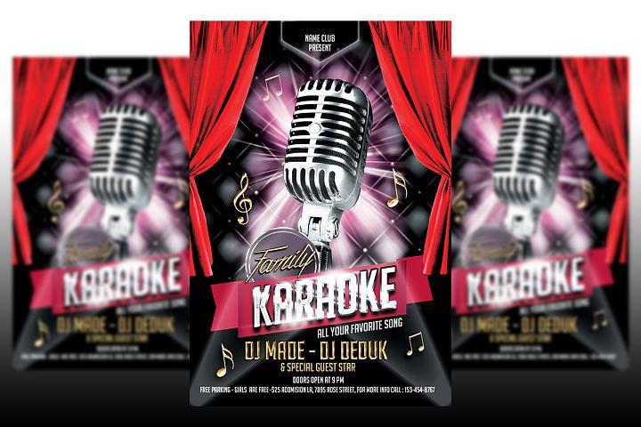 Karaoke Flyer Template #2