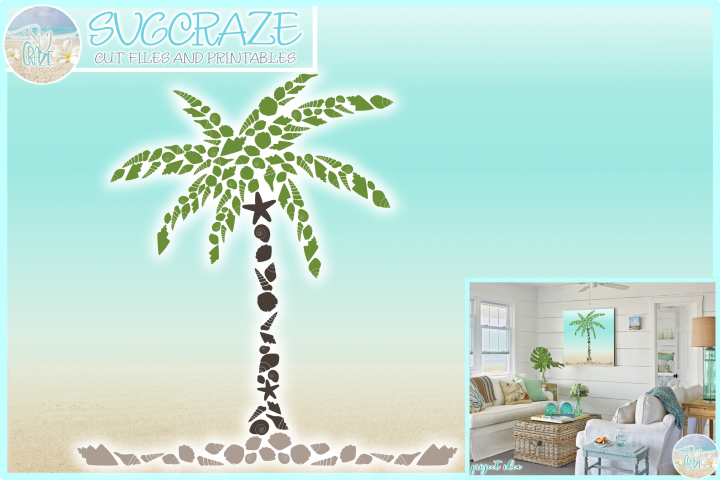 Seashell Palm Tree SVG