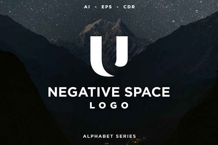 26 Negative Space Logo - Alphabet Series AI EPS CDR PDF