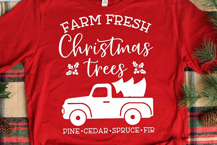 Farm Fresh Christmas Trees SVG, DXF, PNG, EPS