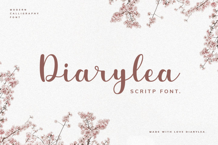 Diarylea Script Font!