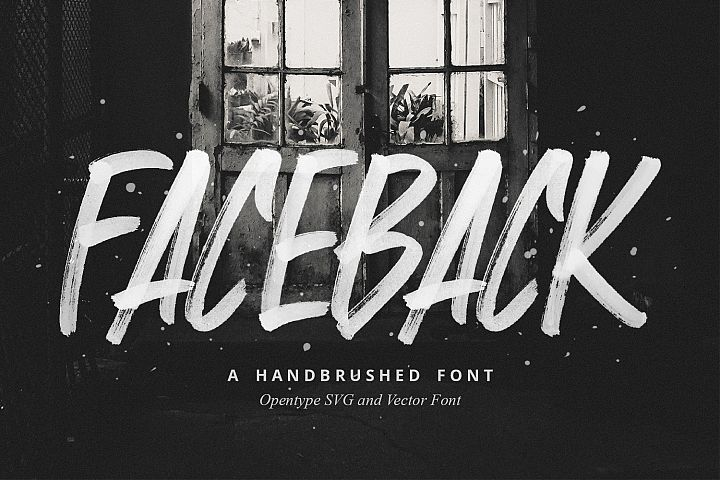 Faceback - SVG Brush Font