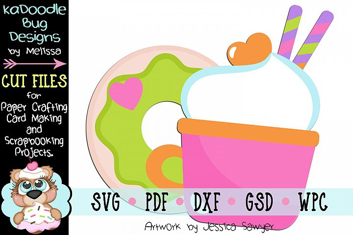 Good Morning Goodies Donut Coffee Cut File - SVG PDF DXF GSD