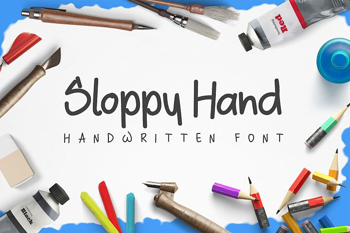Sloppy Hand - a Handwritten Font