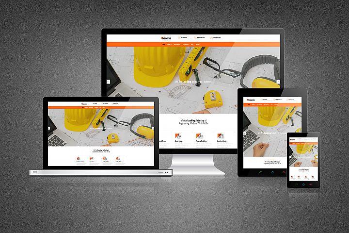 Modern Responsive Website Mockup
