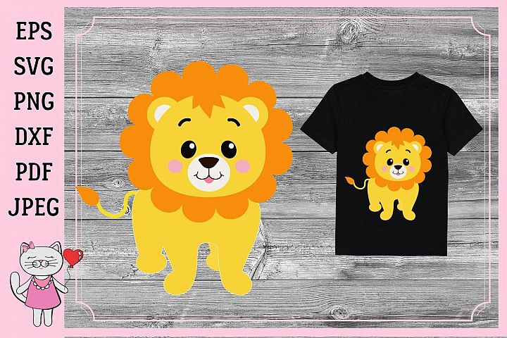 baby Lion SVG, cut file for Cricut and silhouette