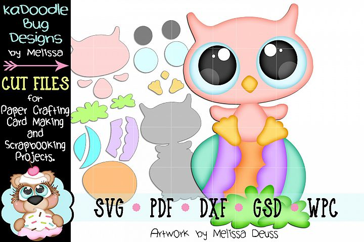 Baby Easter Owl Cut File - SVG PDF DXF GSD WPC