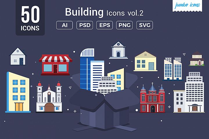 Buildings Vector Icons V2
