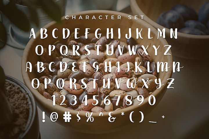 Beans - Free Font of The Week Design 2