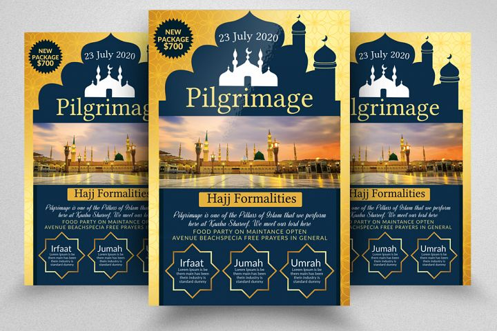 Hajj & Umrah Flyer Template