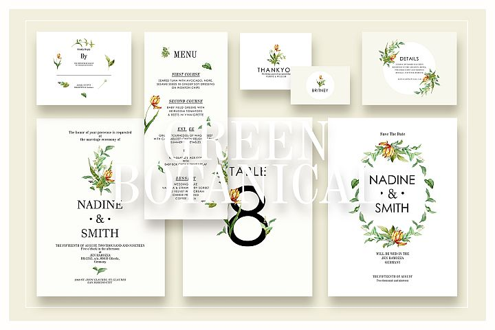 Green Botanical Wedding Suite Ac.13