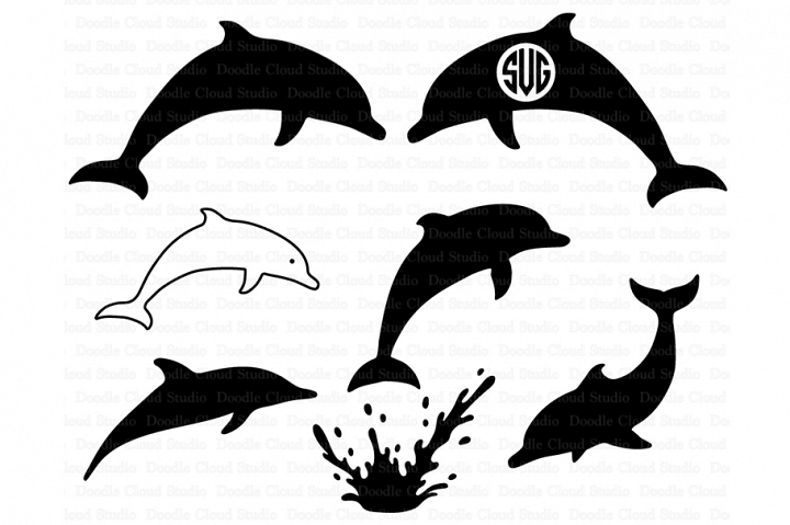 Dolphins SVG, Dolphin Monogram, Dolphin SVG files.