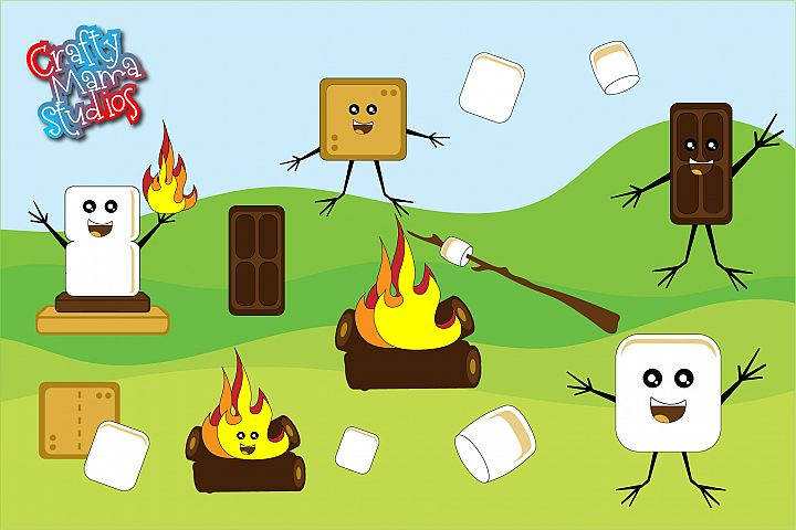 Smores Bundle SVG, Camping Sublimation, Autumn SVG