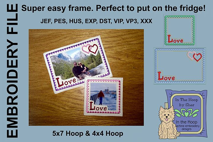 LOVE Picture Frames - 4 x 4 and 5 x 7 Hoops