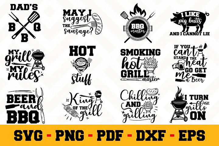 BBQ 12 Designs Pack | Barbecue SVG Bundle