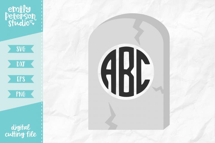 Tombstone Monogram Frame SVG DXF EPS PNG