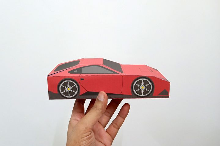 DIY Ferrari favor - 3d papercraft