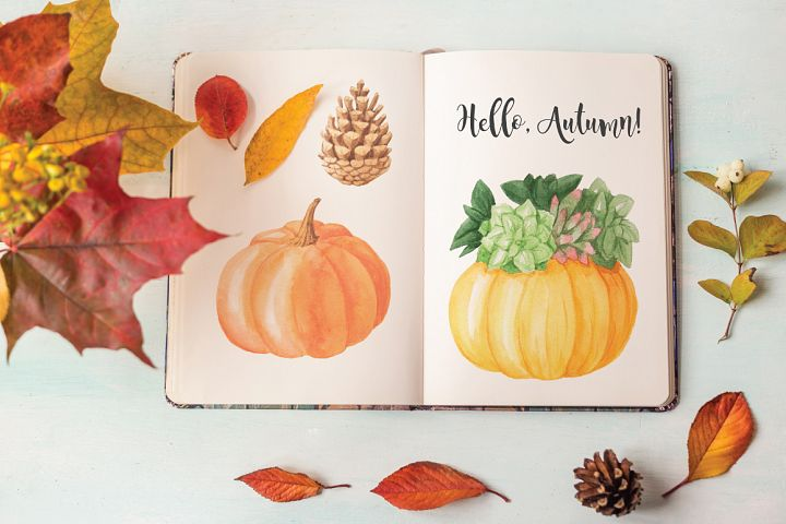 The Watercolor Autumn Collection  - Free Design of The Week Design 3
