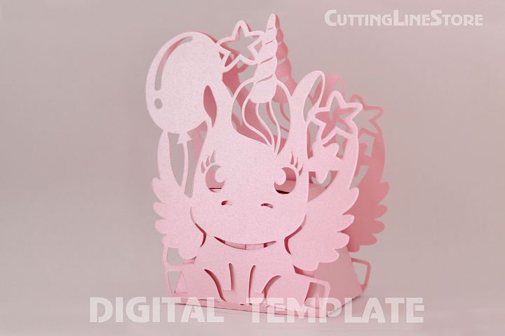 Unicorn favor box template