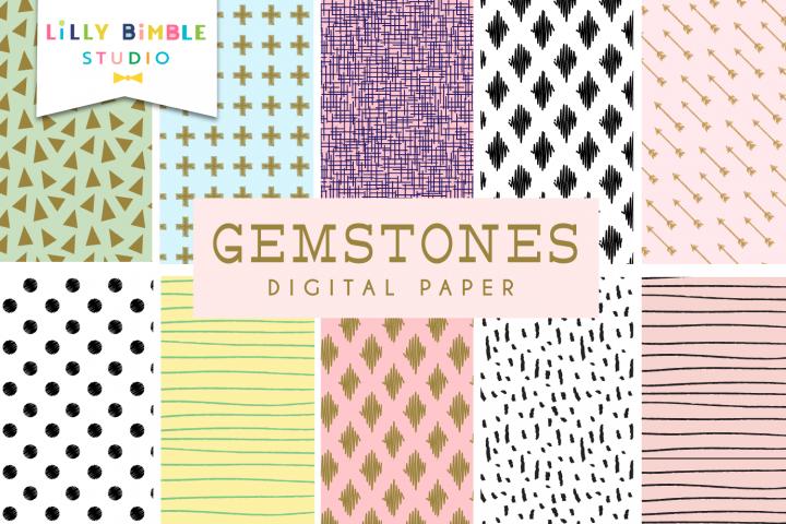 Gemstones Digital Paper