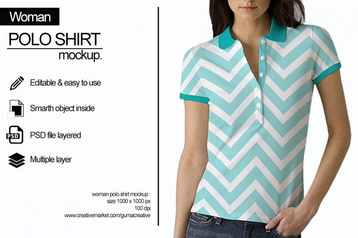Women Polo Shirt Mockup