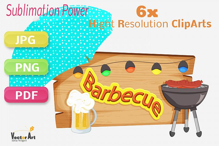 Barbecue - Craft Bundle for Sublimation and Scrapbooking