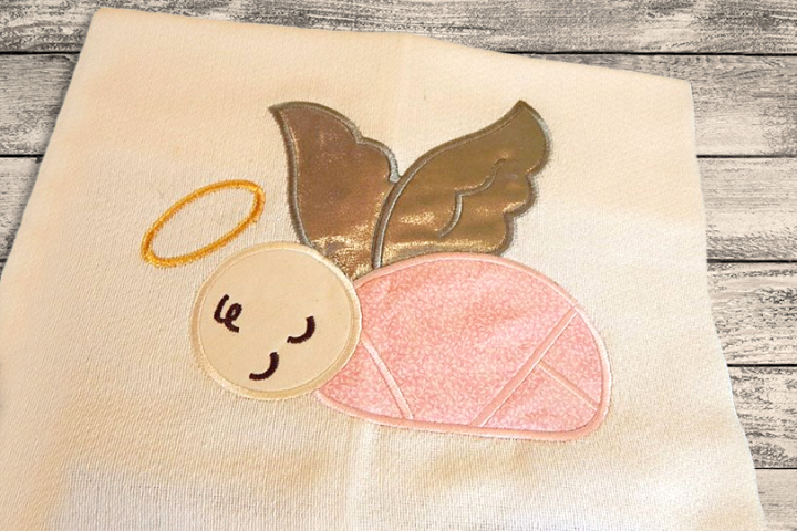Angel Baby Applique Embroidery Design