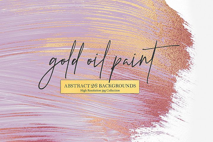 Rose Gold Oil Paint & Abstract Background