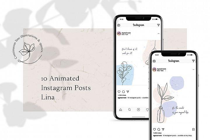 ANIMATED Instagram Posts - Lina