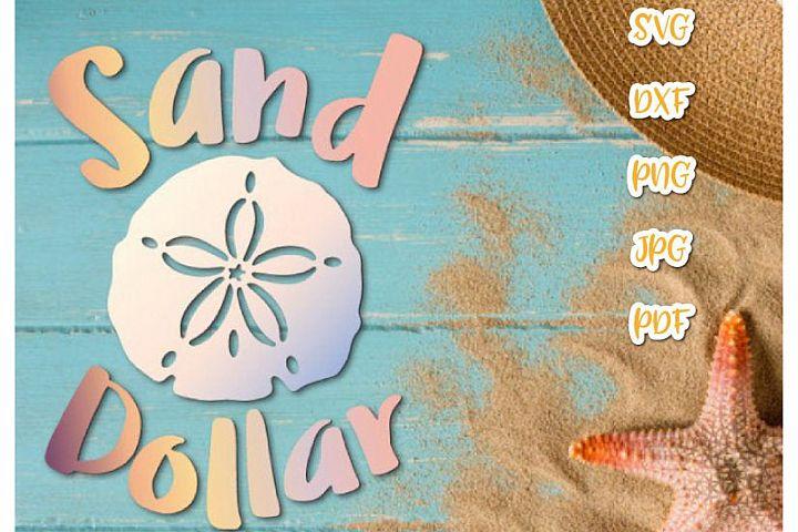 Sand Dollar Summer Beach Sea Animal Sign Print & Cut PNG SVG