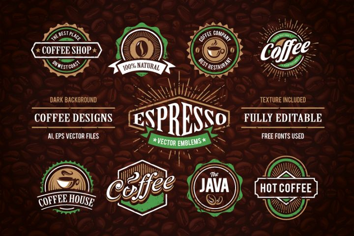 Retro Coffee Emblems #1