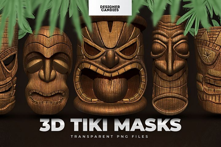 Tiki Masks / Polynesian Totems PNGs