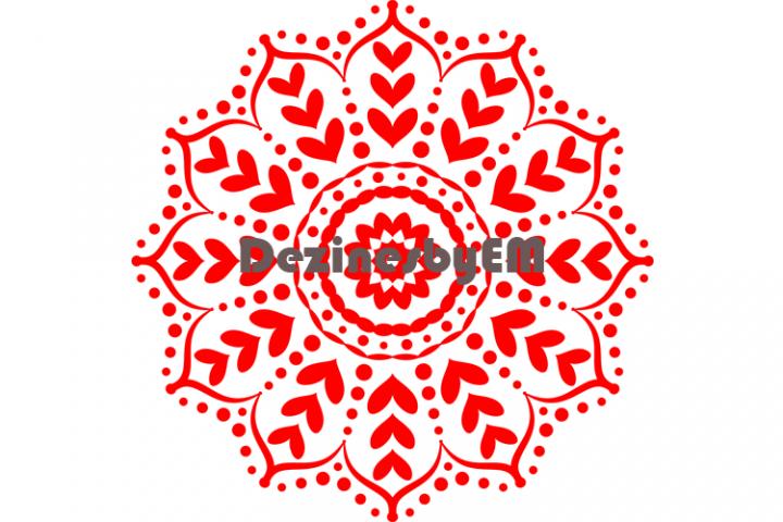 Mandala Heart SVG