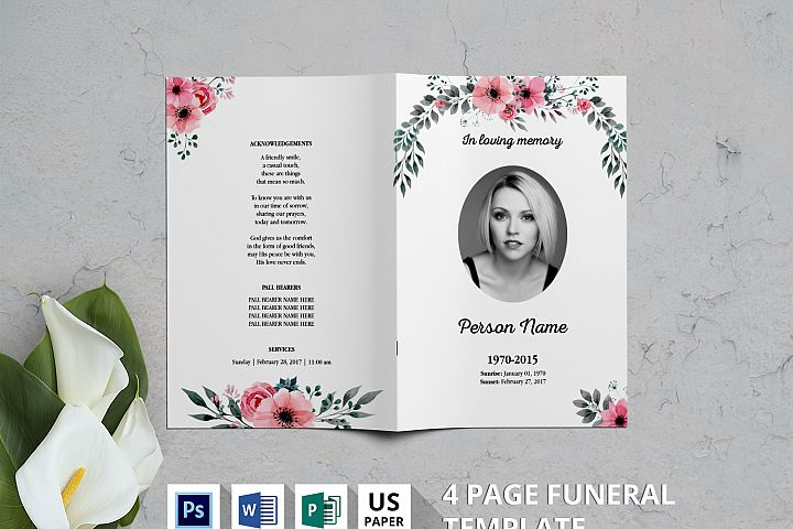 Watercolor Flower Funeral Template-v03