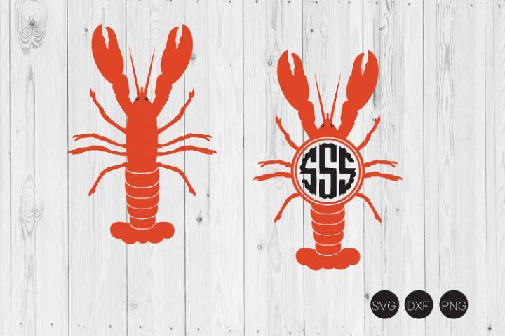 Crawfish Monogram SVG, DXF, PNG Cut Files
