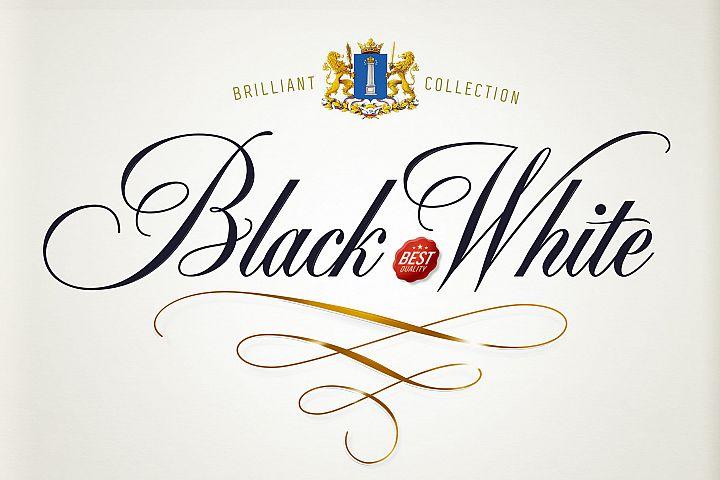 Black & White - premium quality font