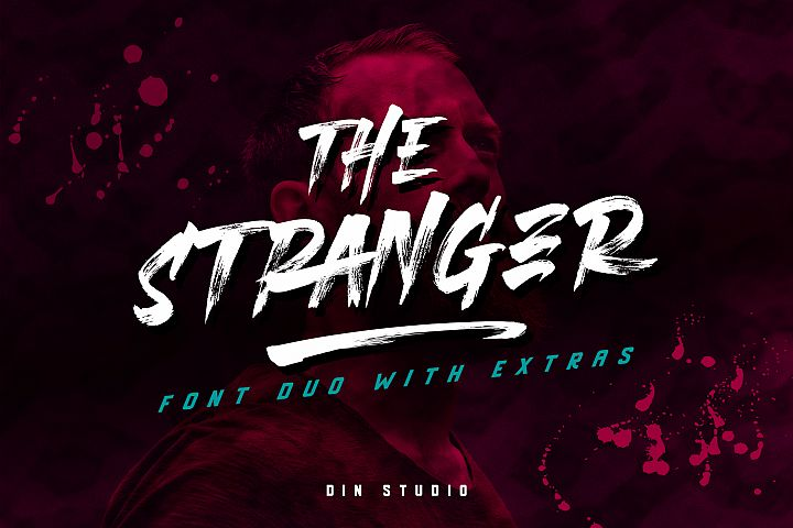 The Stranger Font Duo With Extras