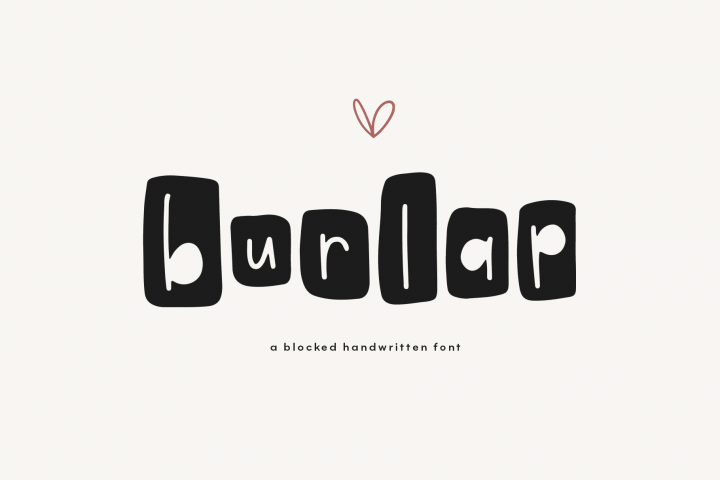 Burlap - A Fun Farmhouse Style Font