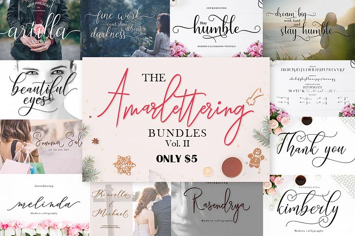 The Amarlettering Bundles Vol. II ONLY $5
