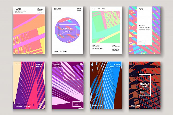 Modern cover design. Abstract retro 90s style texture stripe