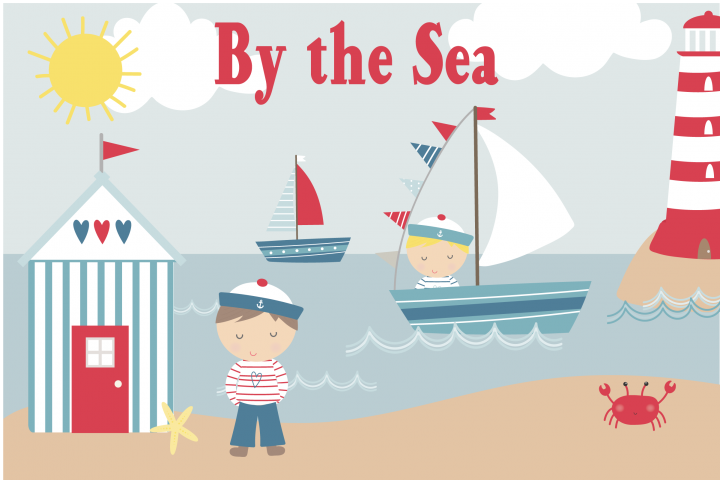By the Sea clipart and paper pack