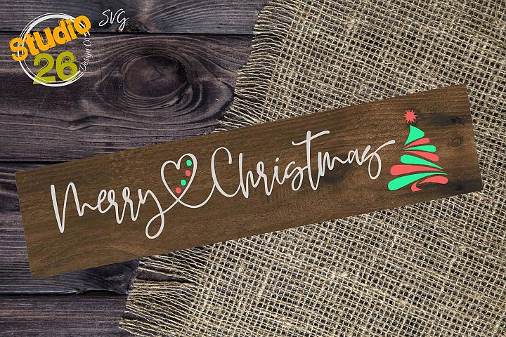 Merry Christmas with Tree - SVG