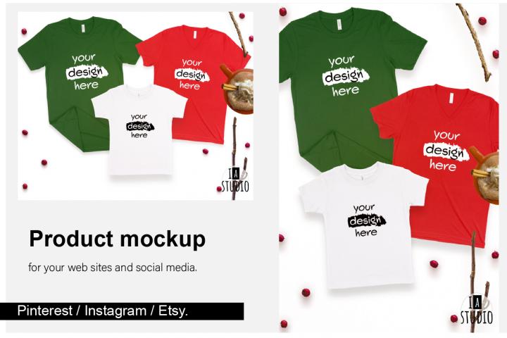 Family Christmas Mockup Set / Social Media Ready Sizes