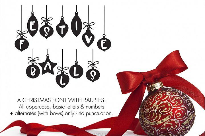 Christmas Font - Festive Balls