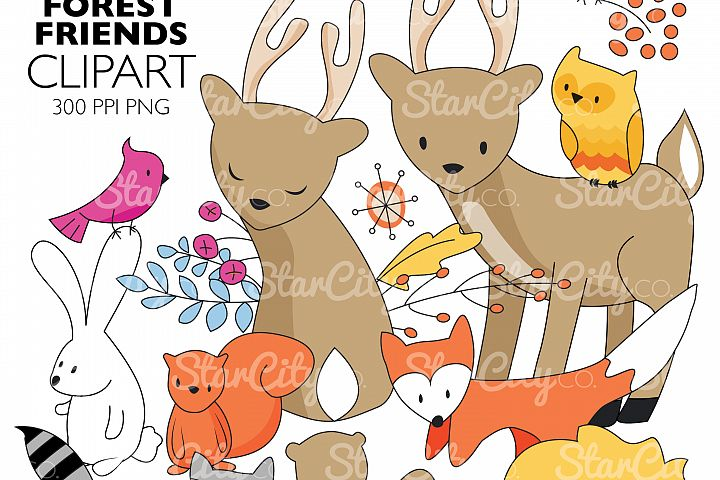Forest Friends Clip art Graphics