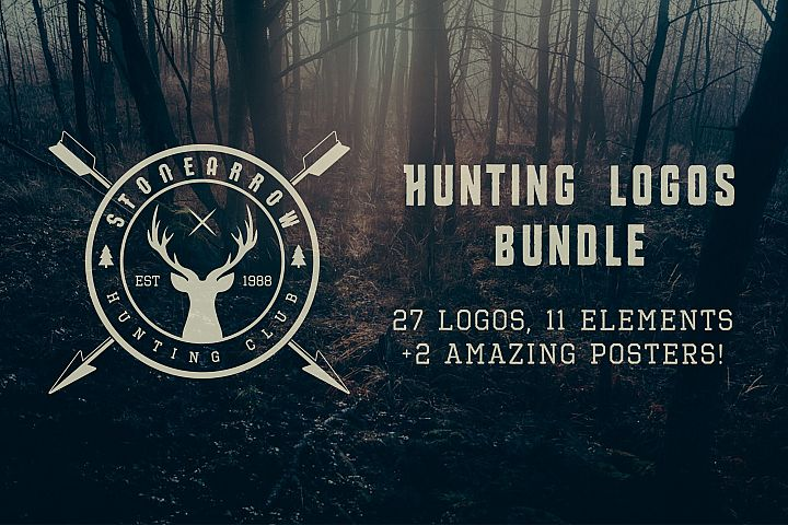 Vintage Hunting Emblems Bundle