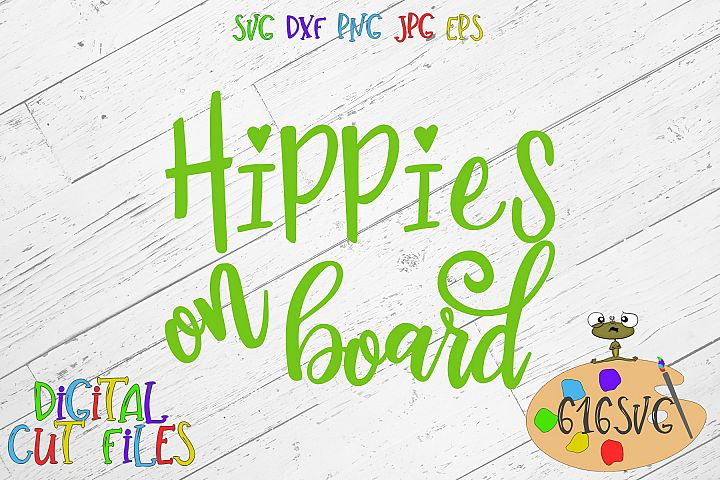 Hippies On Board SVG