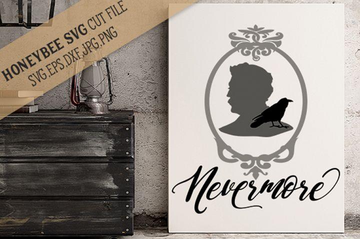 Nevermore Poe SVG Cut File
